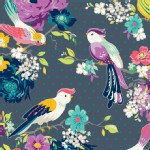 Adorn It - Gigi Blooms - Hello Birdie in Charcoal