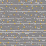 Adorn It - Gigi Blooms - Happy Notes - Metallic in Gray