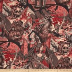 Alexander Henry Fabrics - Halloween - Heart of Darkness in Red