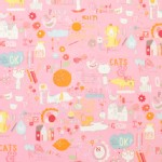Alexander Henry Fabrics - Kids - My World of Smiles in Pink