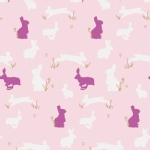 Art Gallery Fabrics - AGF Collection - Anna Elise - Bunny Binkies in Fluff Metallic