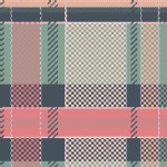 Art Gallery Fabrics - AGF Collection - Mad Plaid - Coral Views in