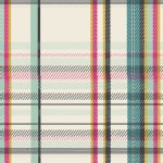 Art Gallery Fabrics - AGF Collection - Mad Plaid - Strawberry Tuxedo in