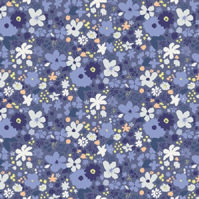 Art Gallery Fabrics - AGF Collection - Chic Flora - Vintage Rush in Bleu