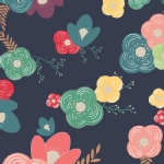 Art Gallery Fabrics - AGF Collection - Happy Home - Table Flowers in Cheer