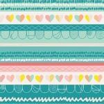 Art Gallery Fabrics - AGF Collection - Playing Pop - Clueless Hearts in Innocence