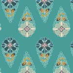 Art Gallery Fabrics - Fantasia - Krokos Sprites in Teal