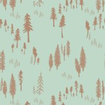 Art Gallery Fabrics - Hello Bear - Timberland in Dew