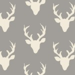 Art Gallery Fabrics - Hello Bear - KNITS - Buck Forest in Mist