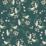 Art Gallery Fabrics - Hello Ollie - Feathered Fellow in Lush