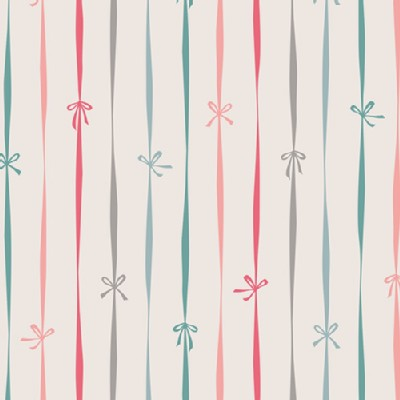 Art Gallery Fabrics - Holiday - Little Town - Bowtied in Cream