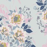Art Gallery Fabrics - Knits - Wild Posy in Ethereal