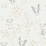 Art Gallery Fabrics - Knits - Little Town - Starbright in Frost