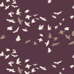 Art Gallery Fabrics - Winged - VOLIE - Aves Chatter in Dim