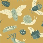 Birch Fabrics - Acorn Trail - Bugs in Gold
