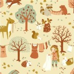 Birch Fabrics - Acorn Trail - Laundry Day in Cream