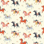 Birch Fabrics - Wildland - Knits - Wild Horses in Cream