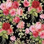 Blend Fabrics - Anna Griffin - Rose Garden in Black