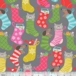 Blend Fabrics - Holiday - Even A Mouse - Stocking Stuffers in Grey