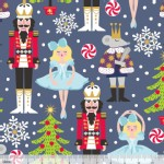 Blend Fabrics - Holiday - Snowflake Waltz in Navy
