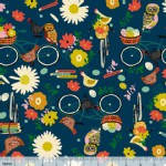 Blend Fabrics - Others - Garden Roost - Hitchride in Navy
