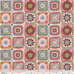 Blend Fabrics - Riding Hood - Granny Squares in White