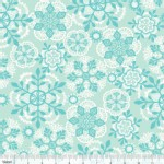 Blend Fabrics - Sugar Rush - Crochet Snowflakes in Blue