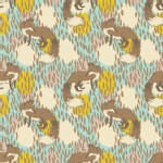 Blend Fabrics - Timber and Leaf - Playful Fox in Blue