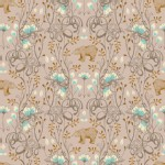 Blend Fabrics - Timber and Leaf - Brush Bear in Taupe