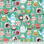 Blend Fabrics - Wonderland - Mad Tea Party in Green