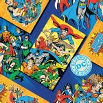 Camelot Fabrics - DC Comic - Comic Covers in Blue