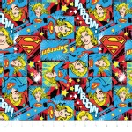 Camelot Fabrics - Girl Power 2 - Super Girl in Multi