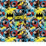 Camelot Fabrics - Girl Power 2 - Batgirl in Multi