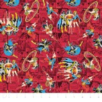 Camelot Fabrics - Girl Power 2 - Comics in Ruby