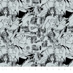 Camelot Fabrics - Girl Power 2 - Tonal in Grey