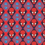 Camelot Fabrics - Marvel - Spider Man - Heads in Red