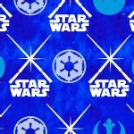 Camelot Fabrics - Star Wars - Glowing Lightsabers in Glows In the Dark