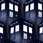 Character Prints - Dr Who - Packed Tardis in Navy