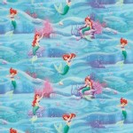 Character Prints - Little Mermaid - Aqua Little Mermaid Underwater Scenic in Ocean