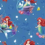 Character Prints - Little Mermaid - Disney Little Mermaid Musical Scene in Blue