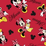 Character Prints - Mickey - Minnie Mouse Loves Shopping Toss in Red