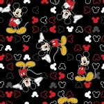 Character Prints - Mickey - Mickey Mouse Icon Toss in Black