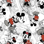 Character Prints - Mickey - Disney Mickey Comic Strip Toss in White