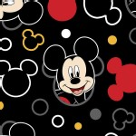 Character Prints - Mickey - Mickey Mouse Head Toss in Black