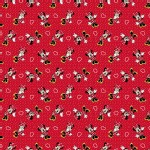 Character Prints - Mickey - Minnie with Hearts in Red