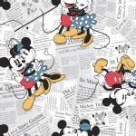 Character Prints - Mickey - Disney Mickey Minnie All Over the News in White