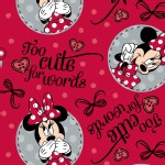Character Prints - Mickey - Minnie Too Cute for Words in Red
