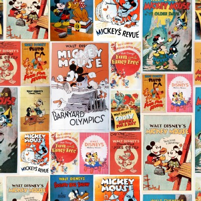 Character Prints - Mickey - Mickey Minnie Posters in Multi