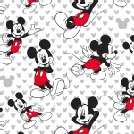 Character Prints - Mickey - Mickey Relaxed in White