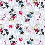 Character Prints - Mickey - Mickey Minnie Vintage Toss in White